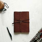 Канцелярские товары handmade. Livemaster - original item Leather notebook A5. Handmade.