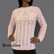 """Свитеры ручной работы. Ярмарка Мастеров - ручная работа Свитер """" Розовый жемчуг"""", Вязаный женский свитер. Handmade."""