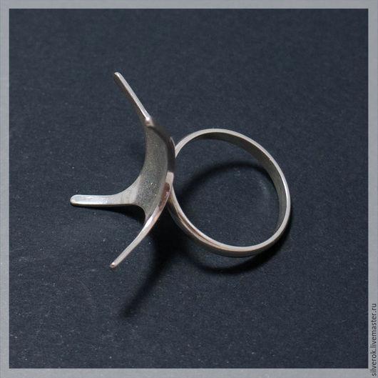 Для украшений ручной работы. Ярмарка Мастеров - ручная работа. Купить Основа для кольца под камень №1 серебро 925 пробf. Handmade.