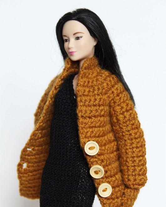 Одежда для кукол ручной работы. Ярмарка Мастеров - ручная работа. Купить Вязаное пальто для куклы Барби. Handmade. Пальто