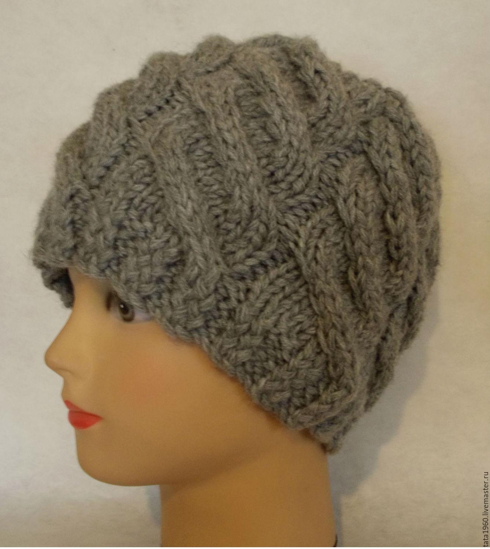 зимняя вязаная шапка для женщин и девушек купить в интернет