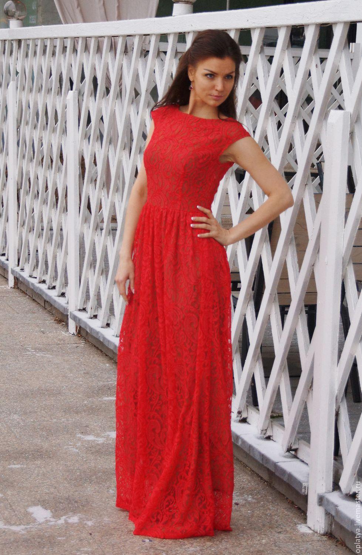 Красное новогоднее платье фото
