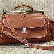 Valise handmade. Livemaster - original item Women`s leather bag ELIZABETH walnut color. Handmade.
