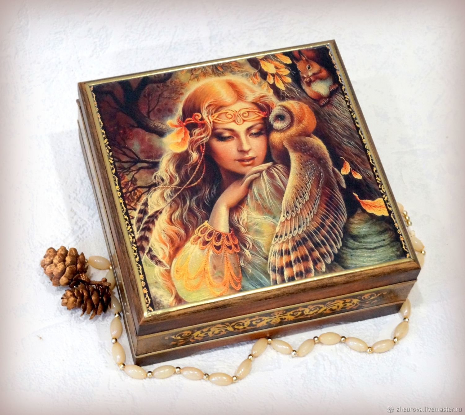 Jewelry box 'Forest tale of Beregini', Box, Moscow,  Фото №1