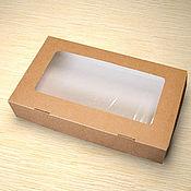 Коробки ручной работы. Ярмарка Мастеров - ручная работа Коробка крафт с окном. Handmade.