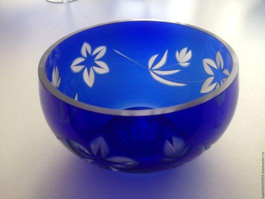 Винтажная посуда. Ярмарка Мастеров - ручная работа. Купить ваза салатник СССР синее стекло. Handmade. Тёмно-синий, стекло
