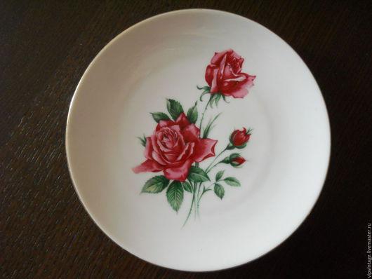 Винтажная посуда. Ярмарка Мастеров - ручная работа. Купить Schumann фарфоровая немецкая десертная  тарелка. Handmade. Schumann, винтажный фарфор