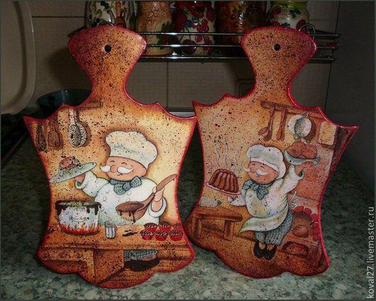 """Кухня ручной работы. Ярмарка Мастеров - ручная работа. Купить Досочки  """"Сладкоежкам тортик!"""". Handmade. Ярко-красный, хорошее настроение"""