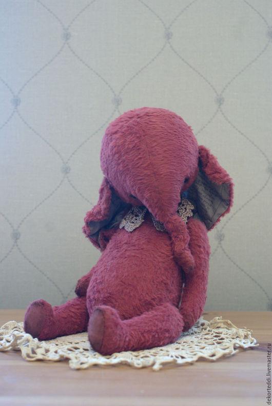 Мишки Тедди ручной работы. Ярмарка Мастеров - ручная работа. Купить Просто Розовый Слоник-тедди .. Handmade. Брусничный, подарок