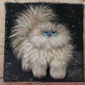 Картины и панно ручной работы. Ярмарка Мастеров - ручная работа Кошка, гуляющая сама по себе. Handmade.