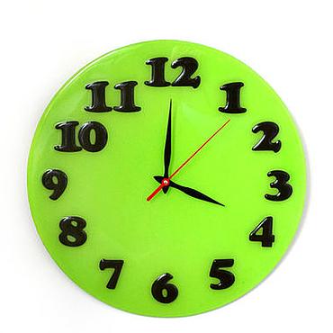 Для дома и интерьера ручной работы. Ярмарка Мастеров - ручная работа Настенные часы Свежесть лайма. Handmade.