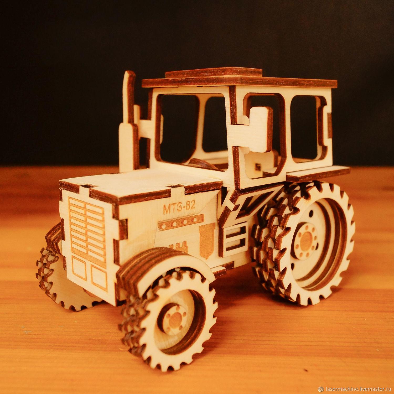 Деревянный трактор, Техника роботы транспорт, Ярославль,  Фото №1