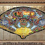 Картины и панно handmade. Livemaster - original item Painting ceramic Painting tile Murals a Fan on Tlatelolco. Handmade.
