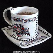 Single Tea Sets handmade. Livemaster - original item A couple of tea