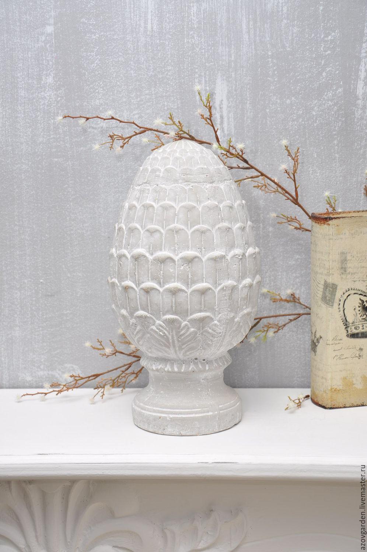 Artichoke figurine Provence of concrete, decor, pinecone vintage, shabby, Figurines, Azov,  Фото №1