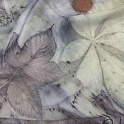 Аксессуары handmade. Livemaster - original item Silk stole, EcoPrint,