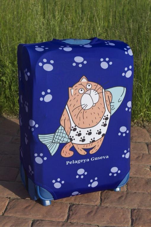 """Чемоданы ручной работы. Ярмарка Мастеров - ручная работа. Купить Чехол на чемодан """"Кот"""". Handmade. Чехол, принт, багаж, подарок"""