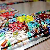 Для дома и интерьера ручной работы. Ярмарка Мастеров - ручная работа зеркало, стекло, фьюзинг  Цветочная сказка. Handmade.