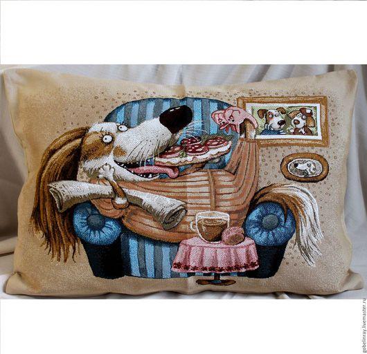 Детская ручной работы. Ярмарка Мастеров - ручная работа. Купить ЖИЗНЬ ПРЕКРАСНА: гобеленовый чехол на подушку, 45-65 см. Handmade.