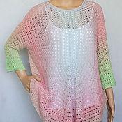 Одежда handmade. Livemaster - original item Pullover-poncho silk