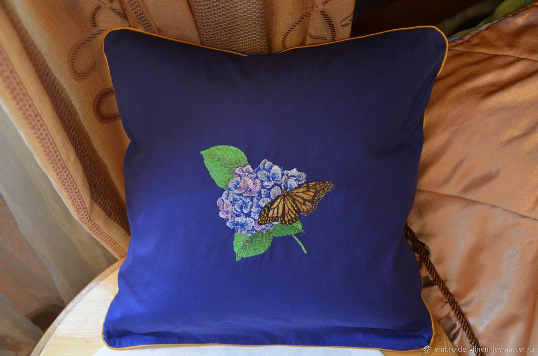 Pillow interior ' Hydrangea', Pillow, Ramenskoye,  Фото №1