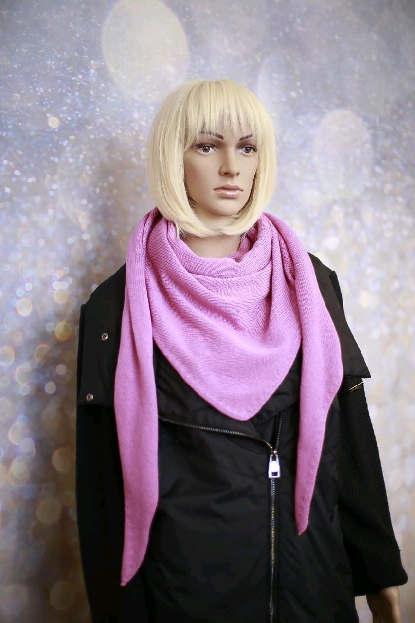 Scarf-bactus 'Pink Flamingo' from 100 % cashmere, Scarves and snoods, St. Petersburg,  Фото №1