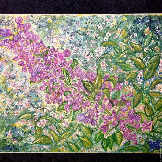 Картины цветов ручной работы. Ярмарка Мастеров - ручная работа. Купить Королева сада.. Handmade. Розовый, подарок на день рождения