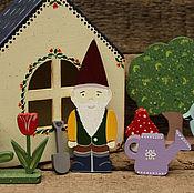 """Куклы и игрушки ручной работы. Ярмарка Мастеров - ручная работа Игровой набор """"Домик-Гномик"""". Handmade."""