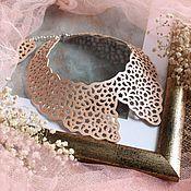 Аксессуары handmade. Livemaster - original item Leather collar Cream lace II. Handmade.