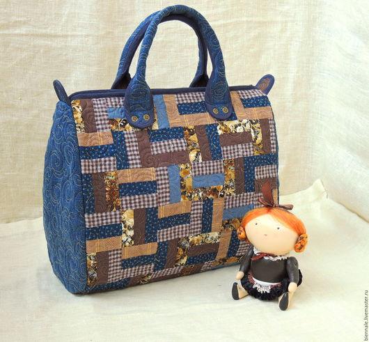 """Женские сумки ручной работы. Ярмарка Мастеров - ручная работа. Купить Сумка """"Северное небо"""". Handmade. Абстрактный, сумка с джинсой"""