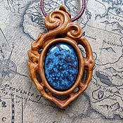 Украшения handmade. Livemaster - original item Copy of Wood pendants with amber. Handmade.