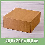 Коробки ручной работы. Ярмарка Мастеров - ручная работа Коробка для торта 25,5х25,5х10,5 см. Handmade.