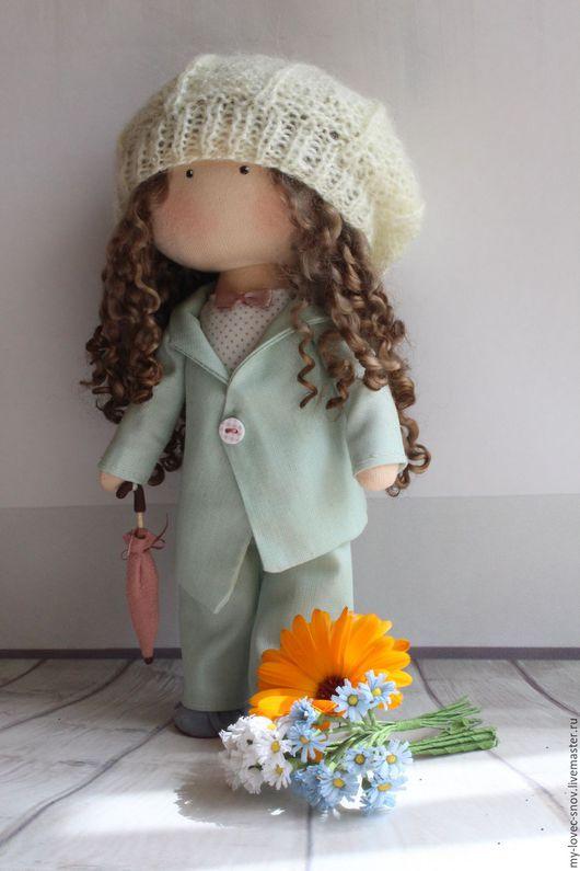 Коллекционные куклы ручной работы. Ярмарка Мастеров - ручная работа. Купить Кукла текстильная Алина. Handmade. Комбинированный, большеножка, замша