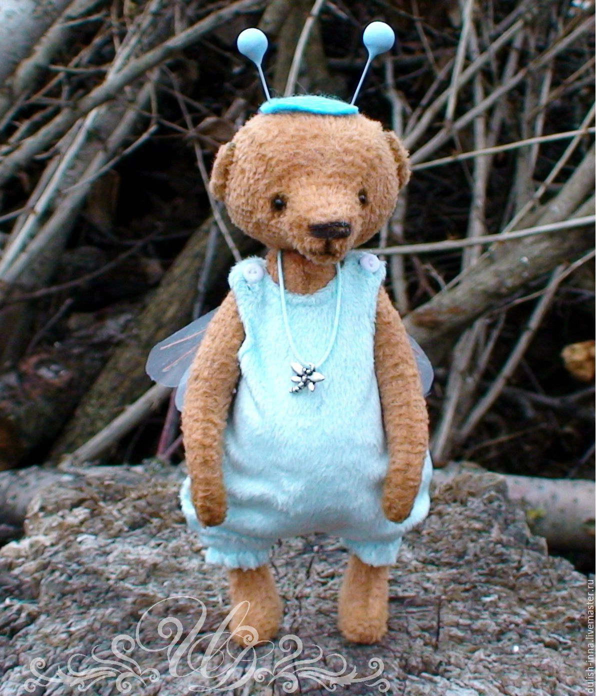 Teddy bear handmade, original Teddy bear, Teddy bear to buy, Teddy bear gift, a Teddy bear, a dragonfly, Teddy bear, Teddy, collectible toy