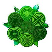 Украшения handmade. Livemaster - original item Brooch Green flower. Handmade.