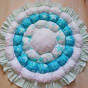 handmade. Livemaster - original item blankets: Play Mat: round bombon. Handmade.