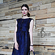 Платья ручной работы. Валяное платье «Синяя птица». Irina Demchenko. Ярмарка Мастеров. Мини-платье, валяное платье