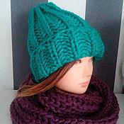 Аксессуары handmade. Livemaster - original item beanie hat knit. Handmade.