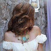 """Украшения ручной работы. Ярмарка Мастеров - ручная работа Колье """"Fairy Wedding"""" бирюза. Handmade."""