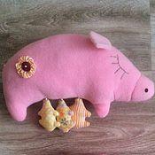 Куклы и игрушки ручной работы. Ярмарка Мастеров - ручная работа Мама-хрюшка с поросятами. Handmade.