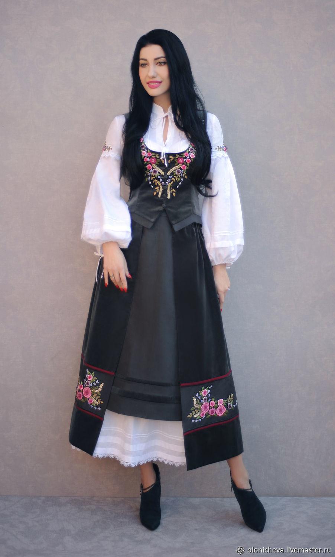 """Вышитый костюм """"Розы и лаванда"""" роскошный комплект с ручной вышивкой, Suits, Vinnitsa,  Фото №1"""