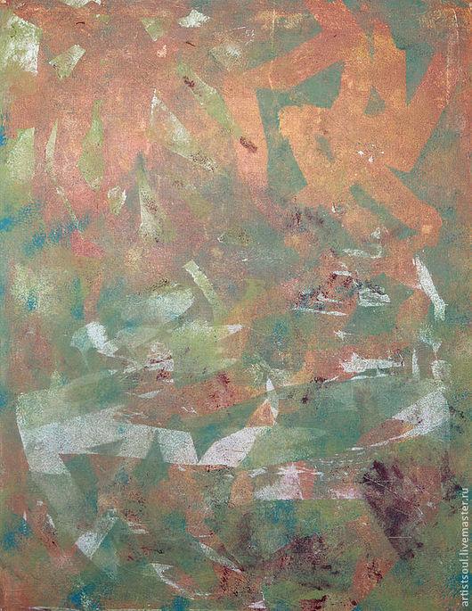 Абстракция ручной работы. Ярмарка Мастеров - ручная работа. Купить Абстрактная живопись. Evelyn.. Handmade. Оранжевый, салатовый, абстракционизм, уникальный