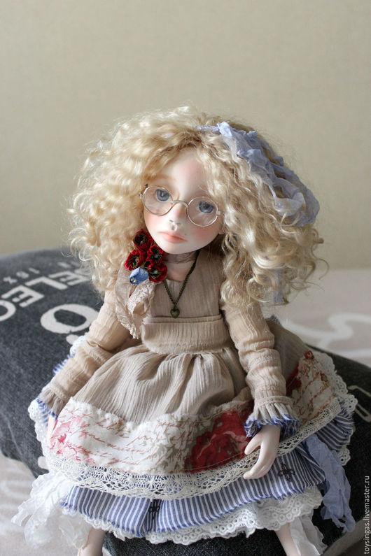 Коллекционные куклы ручной работы. Ярмарка Мастеров - ручная работа. Купить Майя. Handmade. Бежевый, авторская ручная работа, Паперклей