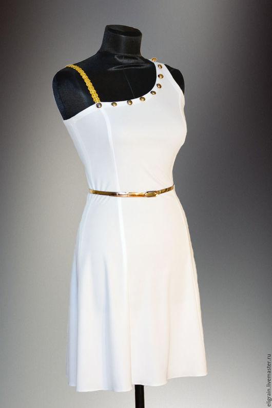 """Платья ручной работы. Ярмарка Мастеров - ручная работа. Купить Коктейльное платье """"Афродита"""". Handmade. Белый, красивое платье"""