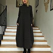 Одежда ручной работы. Ярмарка Мастеров - ручная работа Платье из футера с отрезным низом юбки. Handmade.