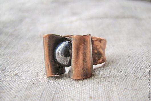 Кольца ручной работы. Ярмарка Мастеров - ручная работа. Купить кольцо бохо стиль Черная Жемчужина. Handmade. Медные украшения
