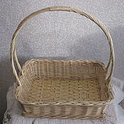 Для дома и интерьера handmade. Livemaster - original item Rectangular basket with high handle. Handmade.
