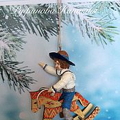 """Куклы и пупсы ручной работы. Ярмарка Мастеров - ручная работа Ватная игрушка """"Я люблю свою лошадку"""". Handmade."""