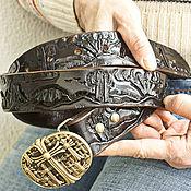 Аксессуары handmade. Livemaster - original item Leather belt handmade black