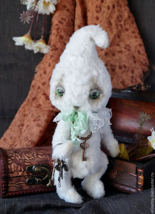 Мишки Тедди ручной работы. Ярмарка Мастеров - ручная работа. Купить Мятная Капелька, маленькое привидение Хэллоуин. Handmade. Белый